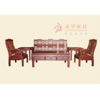 广东红木家具@【永华】中式仿古红木沙发 古典家具