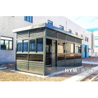 钢结构室外吸烟亭