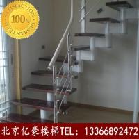 北京实木楼梯品牌   钢木楼梯扶手批发定做