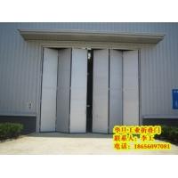 彩钢电动折叠门,厂房钢质折叠门,电动折叠门, 电厂折叠门