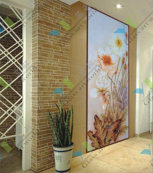供应艺术玻璃电视背景墙
