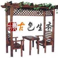 供北京花架茅草亭茅草伞户外桌椅户外休闲家具(图)