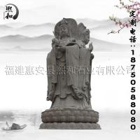 熙和石业供应5米高花岗岩雕刻观音佛像