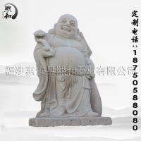 熙和石业供应2米高芝麻白雕刻弥勒雕像