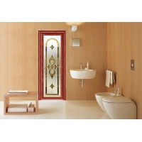 亚材门窗唯美平开门 卫生间门 XQ022