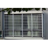 南京坤宁牌铝合金横杆固定式防盗窗