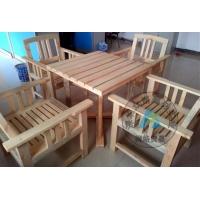 广东樟子松防腐木户外桌椅 庭院休闲桌椅 庭院桌椅组合