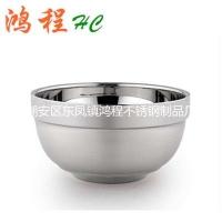 供应不锈钢双层幸福碗/沙光碗  汤碗 餐具