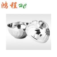 不锈钢双层隔热百合碗/玉兰碗 汤碗 餐具