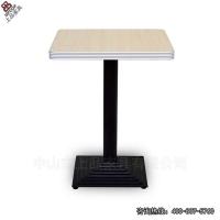 高档耐火板铝封边桌面铁喷涂桌脚组合餐桌快餐桌