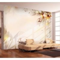 蝶恋花大型客厅电视背景墙壁画