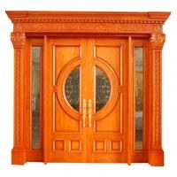 瑞尔信供应高级手工艺雕花实木门 欧式风格原木门
