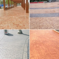 百色市透水混凝土 透水地坪 压花地坪 圧模地坪 艺术地坪厂家