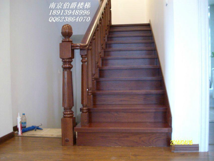 南京伯爵楼梯-----水泥现浇实木楼梯护栏