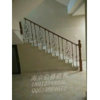 南京伯爵楼梯----欧式花艺护栏