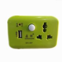 带usb充电的三插头插座转换器