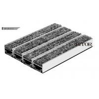 ED-LB-2531最常用镶嵌式铝合金地垫 嵌入式铝合金地毯