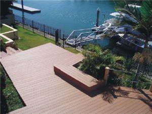 安徽爱诺德 PE材质木塑空心地板140x25景观材料