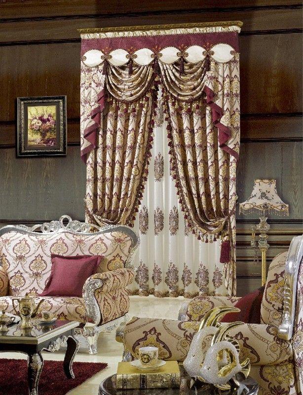 欧式风格高档提花窗帘布艺