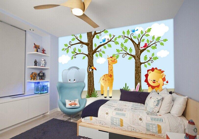 墙纸----可爱卡通长颈鹿