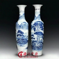 落地大花瓶  陶瓷大花瓶定做  礼品大花瓶