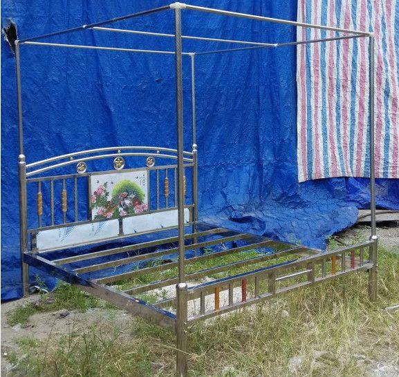 专业《下乡不锈钢床》1.8米 跑江湖日进万元 林风牌