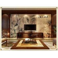 招代理瓷砖背景墙 个性订制电视背景墙 富贵牡丹