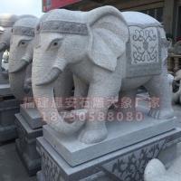 石雕大象图片大全 芝麻白石雕大象图片 汉白玉石雕大象定制