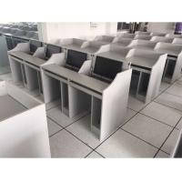 机房并排学生电脑桌-学生电脑桌供应-培荣家具