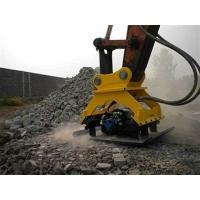 挖机液压振动夯 斜坡沟渠夯实效果好 影响土层深!