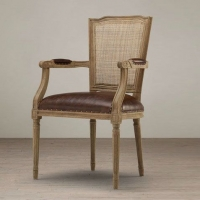 美式乡村实木椅子实木餐椅复古温莎椅休闲餐桌椅