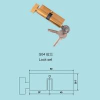 力兴塑平开门传动器带锁-五金配置S04-锁芯