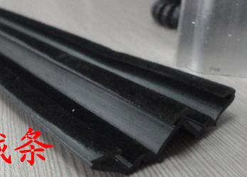 供应喷塑玻璃滑槽植绒密封条