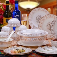 骨瓷碗 餐具套装 陶瓷碗盘定做 碗碟套装家用