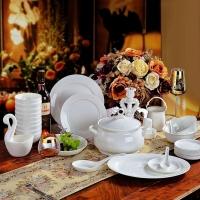 萱雅陶瓷餐具-酒店礼品餐具定做骨瓷餐具碗一手货源