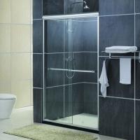 供应酒店淋浴屏风 卫浴厂家直销 3C钢化玻璃 玻璃隔断淋浴屏