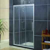 铝合金淋浴房 简易钢化玻璃淋浴屏 三连动淋浴门