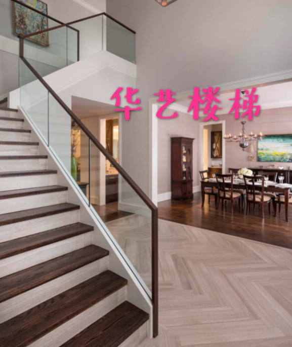 厂家直销玻璃楼梯实木楼梯钢木楼梯铁艺楼梯