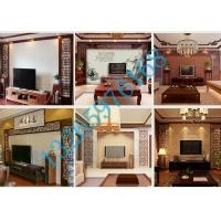 简约现代风铝窗花,客厅电视背景墙铝窗花