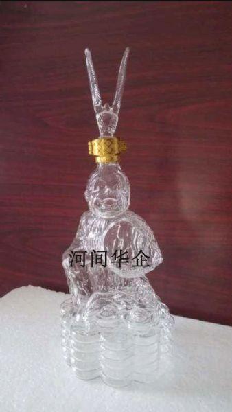玻璃齐天大圣工艺酒瓶