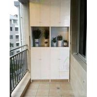 绿色环保无臭味无甲醛无污染防水潮全铝合金阳台柜订定制