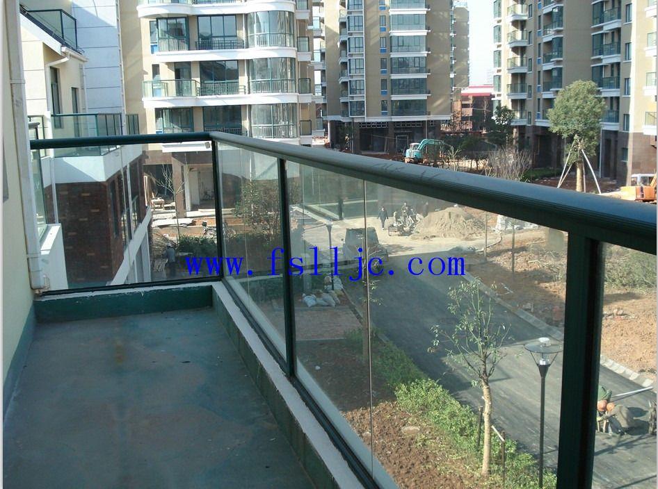 热镀锌阳台护栏,玻璃阳台栏杆,铝合金护栏型材