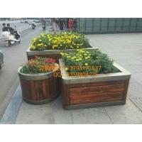 不锈钢木箱、钢木花池组合、景观花坛