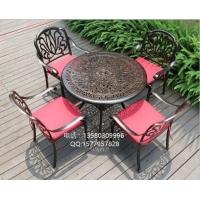 戶外鑄鋁桌椅組合,花園鑄鋁休閑野餐桌椅