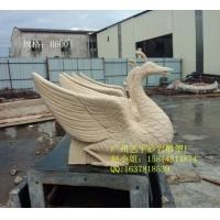 砂岩雕塑 天鹅  人造石动物圆雕价格  河北砂岩动物雕像