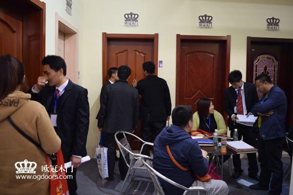 2015年北京木门展  欧冠木门参展场景图7