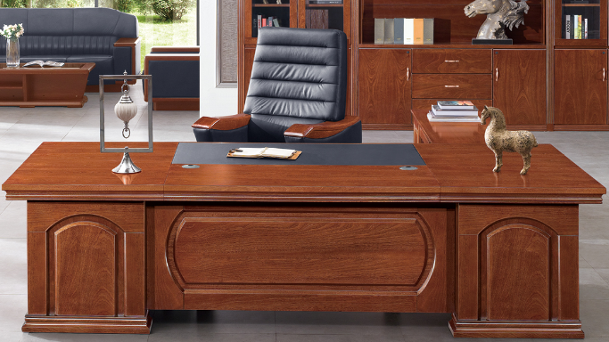 中都办公家具-高档沉稳实木大班台、经理台、老板台