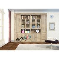 南京6886包覆门板-密度包覆门板-胡桃木平开门书柜