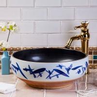 景德镇陶瓷艺术台盆 酒店卫生间 洗脸盆洗手盆