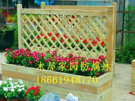 青岛防腐木花箱花坛